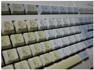 変色したキーボード